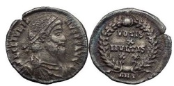"Ancient Coins - Julian II ""the Apostate"" or Philosopher, Antioch, 363 AD. Siliqua. Very Rare."