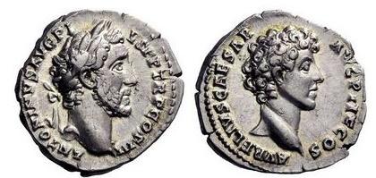 Ancient Coins - MARCUS AURELIUS and ANTONINUS PIUS, Rome, 140 AD. Superb!