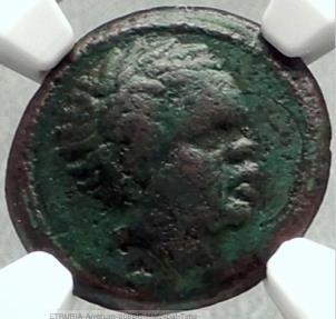 Ancient Coins - ETRURIA Arretium 208 BC Hannibal Time Punic War ELEPHANT  Greek