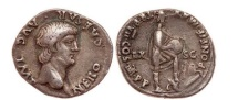 Ancient Coins - NERO, Lugdunum, 60 AD. Silver Denarius. Roma. Artistic portrait. Rare.