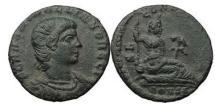 Ancient Coins - HANNIBALIANUS, Constantinople, 335 AD. Bronze. River God-Euphrates. Rare! Superb!