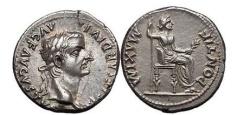 """Ancient Coins - TIBERIUS, Lugdunum, 14-17 AD. Silver Denarius. """"Tribute Penny"""" Splendid!"""