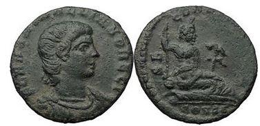 Ancient Coins - HANNIBALIANUS, Constantinople, 335 AD. Bronze. River God-Euphrates. Rare! Superb!