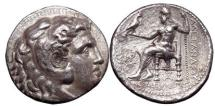 Ancient Coins - ALEXANDER the Great, Babylon, c.323 B.C.  Silver tetradrachm: Heracles. Zeus with  eagle.