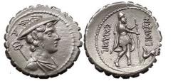 Ancient Coins - C. MAMILIUS LIMETANUS, Rome, 82 BC. Silver Den. Ulysses. The best!
