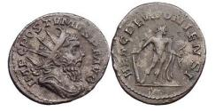Ancient Coins - POSTUMUS, Lugdunum, 265 AD, Silver Antoninianus, Hercules standing right.