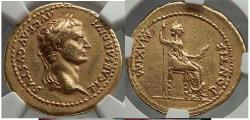 Ancient Coins - TIBERIUS 18-35AD Gold Aureus Authentic Ancient Roman Coin Artistic style. Livia  NGC XF