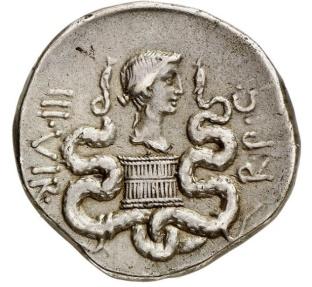 Ancient Coins - MARK ANTONY & Octavia Augustus Sister Silver Cistophoric Tetradrachm Roman Coin