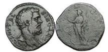 Ancient Coins - CLODIUS ALBINUS, Caesar, Rome,194 A.D.  Bronze Sestertius:Portrait.  Felicitas. RARE.