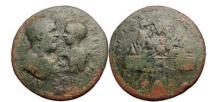 Ancient Coins - MACRINUS and DIADUMENIAN, Bronze, Cappadocia, 217 AD. Mont Argaeus.