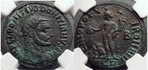 Ancient Coins - DOMITIUS DOMITAINUS Usurper vs Diocletian VERY RARE  NGC Ch XF