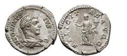 Ancient Coins - CARACALLA, Rome, 217 AD. Silver Denarius. FELICITAS.
