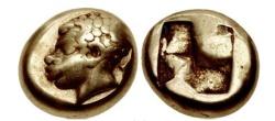 Ancient Coins - IONIA, Phokaia. Circa 625BC Archaic EL Hekte AFRICAN Head SUPER RARE Greek Coin
