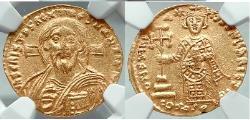 Ancient Coins - JUSTINIAN II 1st JESUS CHRIST Portrait Ancient Byzantine Original Gold Coin NGC