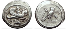 Ancient Coins - TYRE Phoenicia Uncertain King Shekel 357BC Authentic Ancient Silver Greek Coin. Excellent style.