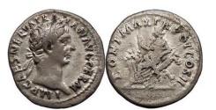 Ancient Coins - TRAJAN, 98-99 AD, Rome. Silver Denarius. Abundantia.