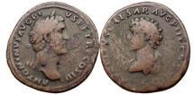 Ancient Coins - ANTONINUS PIUS and MARCUS AURELIUS, Rome, 144 A.D. Bronze Sestertius. Rare.