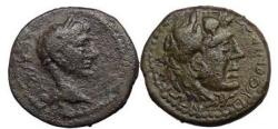 Ancient Coins - AUGUSTUS - Pythonikos Timoxenou - 1 A.D., COS Bronze. HERACLES.