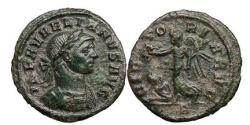 Ancient Coins - AURELIAN, Bronze Denarius, Siscia, 270AD VICTORY