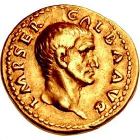 Ancient Coins - GALBA 69 AD Gold Aureus Ex Mazzini Collection VERY RARE