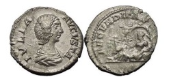 Ancient Coins - JULIA DOMNA, Rome, 206 AD. AR Denarius Four Seasons Beautiful Exceedingly Rare.