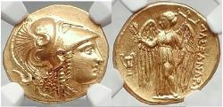 Ancient Coins - ALEXANDER III the GREAT 323BC Gold Stater  NGC MS