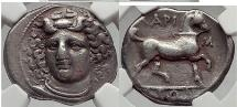 LARISSA in THESSALY 356 BC Nymph Horse Silver Stater  NGC Ch VF