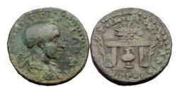 Ancient Coins - NEOCAESAREA in Pontos, Under Gordian III, 239 A.D. , Bronze. Amphora Below Table.