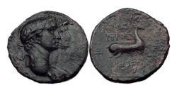 Ancient Coins - CLAUDIUS & AGRIPPINA Junior 49 AD  Ephesus