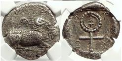 Ancient Coins - SALAMIS CYPRUS Island 480 BC  Silver Greek Stater Coin RAM NGC Choice XF