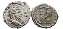 Ancient Coins - SEPTIMIUS SEVERUS, 201 AD, Rome. Silver Denarius. RESTITVTOR VRBIS.