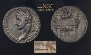 Ancient Coins - Nero Claudius Drusus Claudius FATHER 41AD NGC Certified XF 5/5 3/5