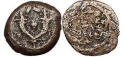 Ancient Coins - Alexander Jannaeus, High Priest of Israel, Bronze Prutah 103-76 BCE Jerusalem.