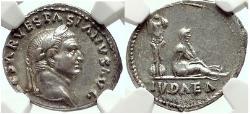 Ancient Coins - VESPASIAN 69 AD Rome  JUDAEA CAPTA Coin NGC AU*