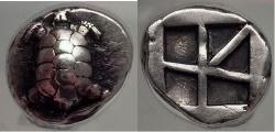 Ancient Coins - AEGINA Attica Island Greece 456 BC Land Tortoise Silver Stater