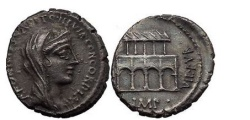 Ancient Coins - P.FONTEIUS P.f. CAPITO and T.DIDIUS, Rome, 55 BC. Silver Den. Villa Publica.