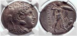 Ancient Coins - PTOLEMY I Soter Egypt Silver Tetradrachm  ALEXANDER the GREAT NGC