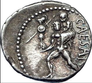 Ancient Coins - JULIUS CAESAR 48BC  Silver Denarius VENUS TROY Rome HERO NGC ChXF 4/5; 3/5