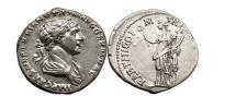 Ancient Coins - TRAJAN, Rome 117 AD. Silver Denarius. Felicitas. FDC!