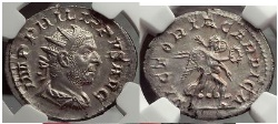 Ancient Coins - PHILIP I the ARAB 247 A.D. VICTORIA CARPICA Rare  NGC MS