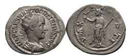 Ancient Coins - GORDIAN III, Rome, 239 AD., Silver Antoninianus, PAX AVGUSTI Absolutely Superb.