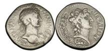 Ancient Coins - Cilicia, AIGEAI, 117 A.D. , Silver Tridrachm: Bust of Hadrian / Alexander the Great