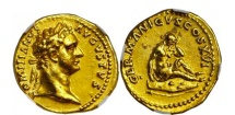 Ancient Coins - DOMITIAN 92AD Germany Germania Capta Aureus