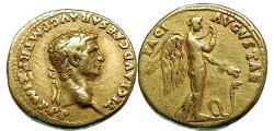 Ancient Coins - CLAUDIUS 51 AD Lugdunum GOLD Aureus Pax-Nemesis