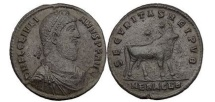 Ancient Coins - JULIANUS II, Heraclea, Double Majorina. Bull, two stars above.