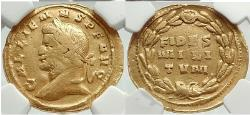 Ancient Coins - GALLIENUS Authentic Ancient 262 AD Rome Gold  Aureus NGC F 4/5; 2/5