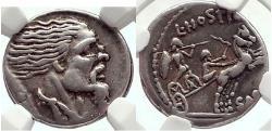 Ancient Coins - VERCINGETORIX enemy of JULIUS CAESAR 48BC VERY RARE