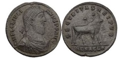 Ancient Coins - JULIANUS II, Heraclea, Double Majorina. Bull, two stars above.