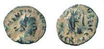 Ancient Coins - Valentinian III, 425-455 AD. AE 11 mm. Rome mint.
