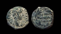 Ancient Coins - Arabia, Petra. Hadrian, 117-138 AD. AE 16 mm.
